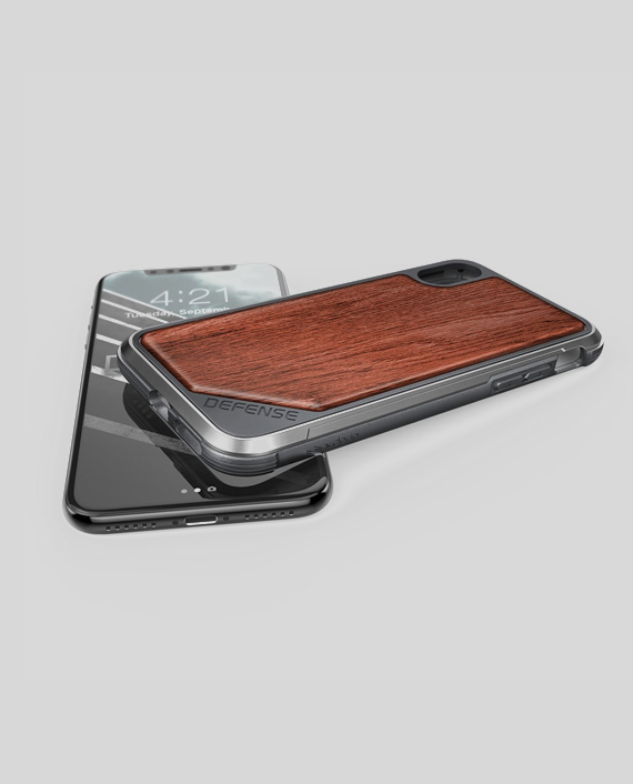 iPhone X Case Defense Lux Rose Wood