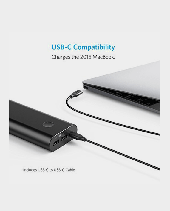 Anker powercore+ 20100mAh with type c cable