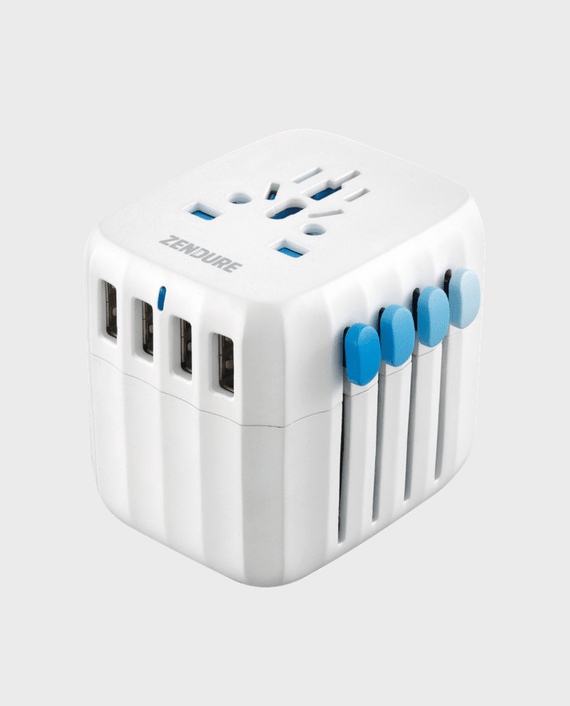 Zendure Passport Global Travel Adapter with Auto-Resetting Fuse in Qatar