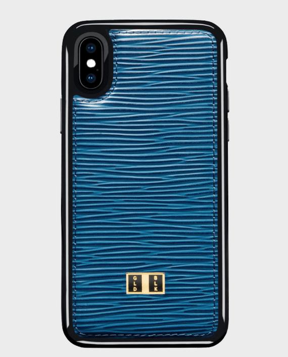 Gold Black iPhone X Case Unico Blue in Qatar