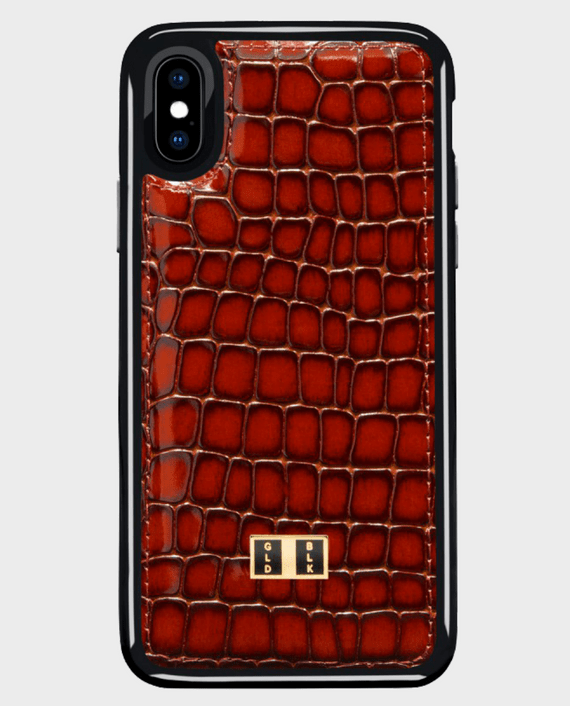Gold Black iPhone X Case Milano Brown in Qatar