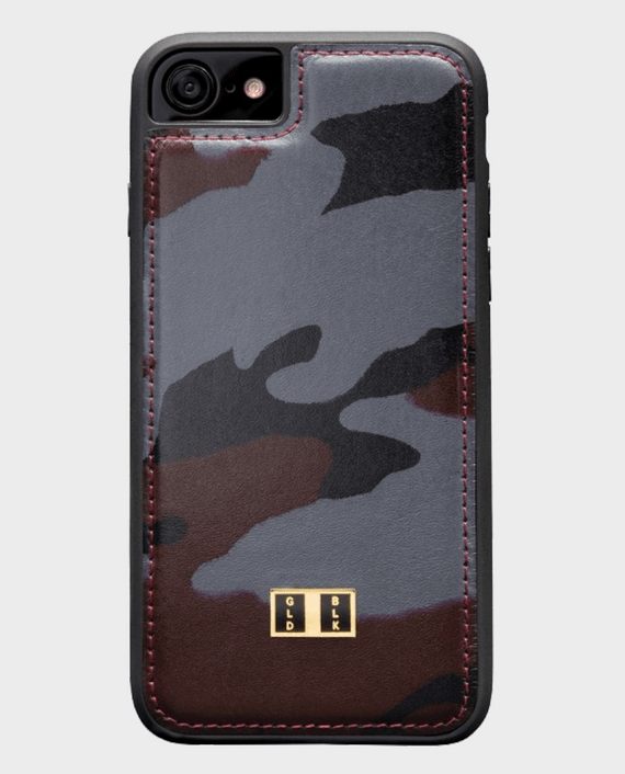 Gold Black iPhone 8 Leather Case Camouflage in Qatar