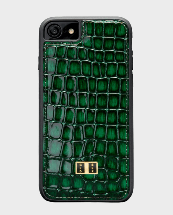 Gold Black iPhone 8 Leather Case Milano Green in Qatar