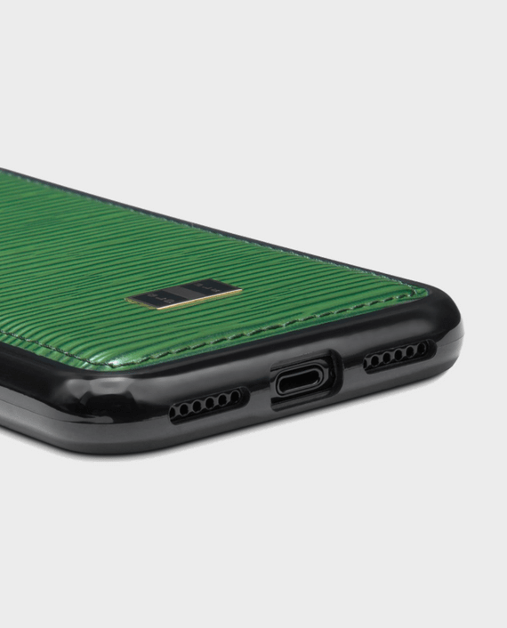Gold Black iPhone X  Case Unico Green