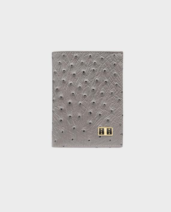 Goldblack Bifold Slim Wallet Ostrich Grey in Qatar