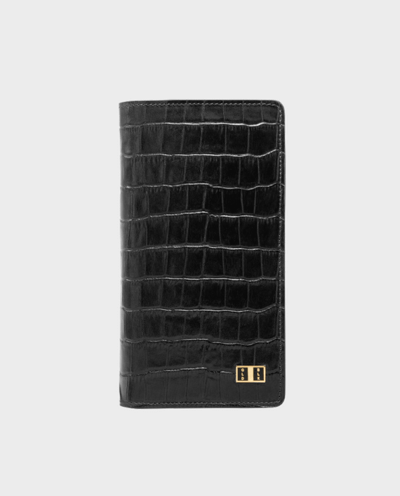 Gold Black Smart Wallet Billion Croco Black in Qatar