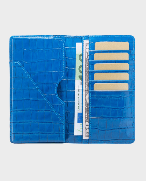 Gold Black Smart Wallet Billion Croco Blue