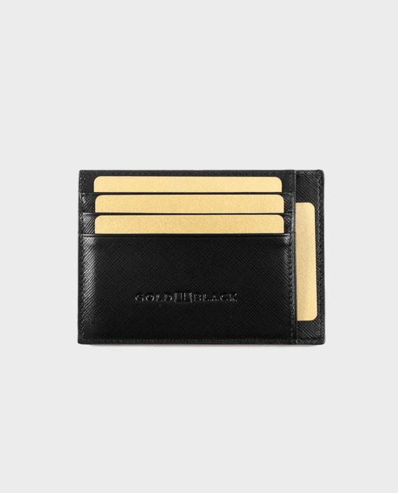 Gold Black Card Holder Bill Saffiano Black