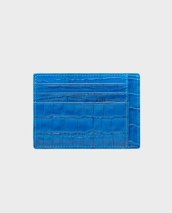 Gold Black Card Holder Bill Croco Ocean Blue in Qatar