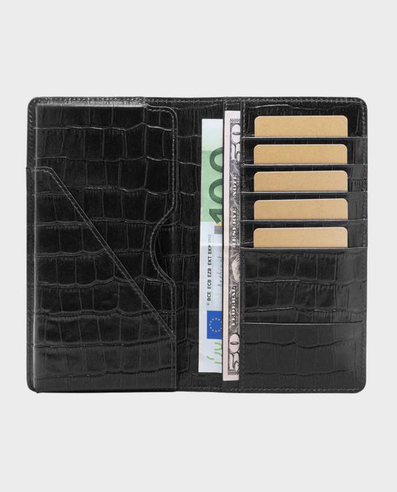 Gold Black Smart Wallet Billion Croco Black