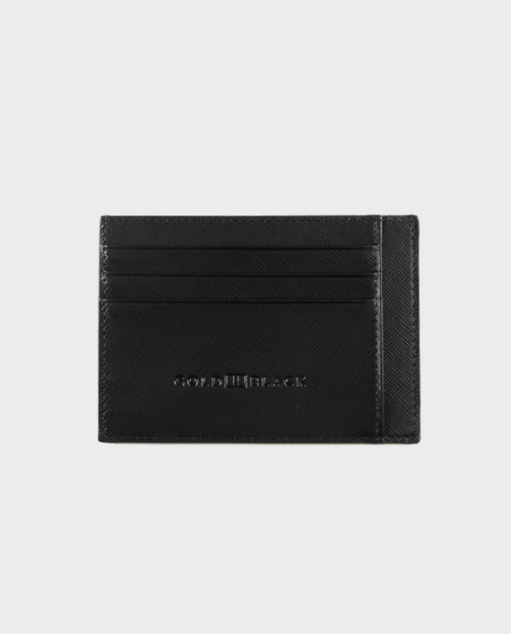 Gold Black Card Holder Bill Saffiano Black in Qatar