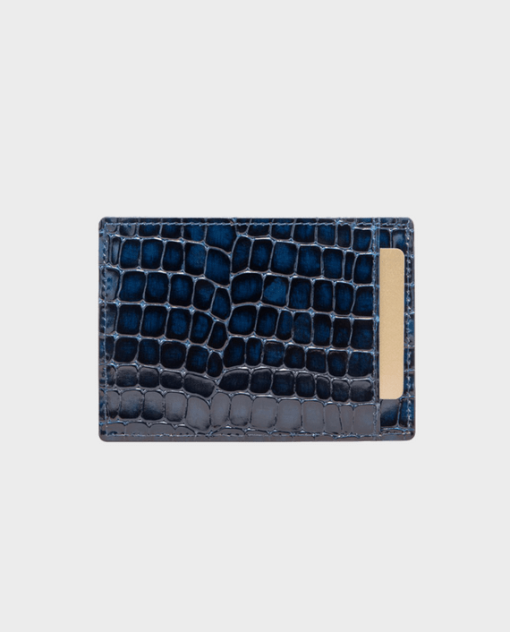 Gold Black Card Holder Bill Milano Blue