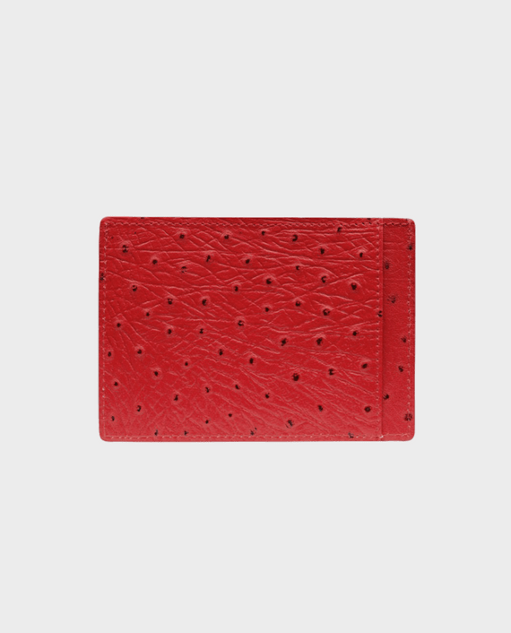 Gold Black Card Holder Bill Ostrich Red in Qatar