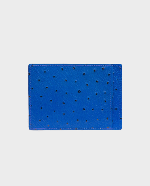 Gold Black Card Holder Bill Ostrich Blue in Qatar