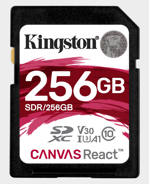 Kingston 256GB SD Canvas React 4K in Qatar