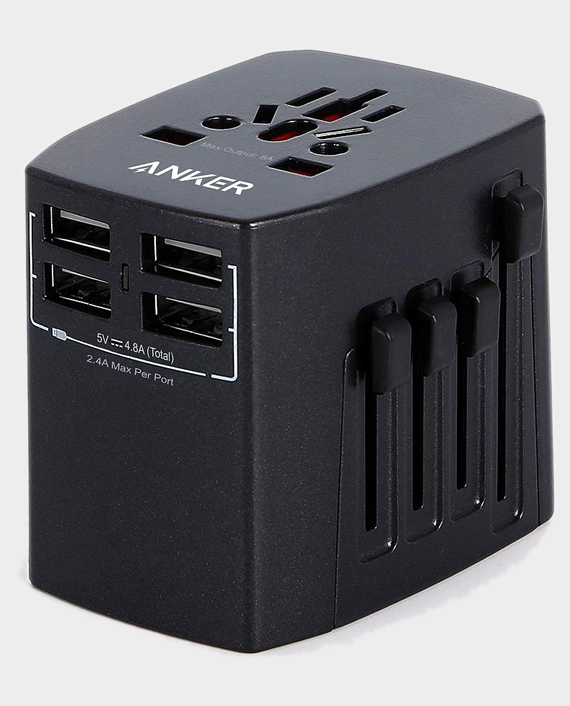Anker Universal Travel Adapter With 4USB Ports in Qatar