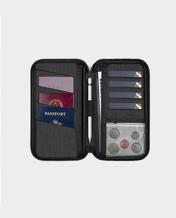 WIWU Travel Mate Passport Pouch - Travel Organizer Wallet Storage Bag in Qatar