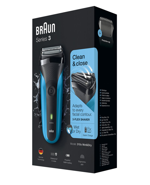 Braun Series 3 310s Wet & Dry Shaver with Protective Cap