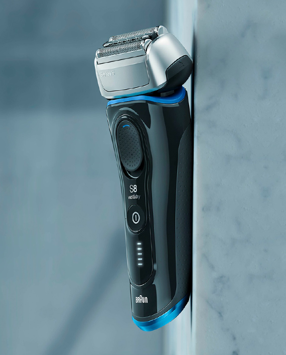 Braun Series 8 8325s Wet & Dry Shaver with Travel Case, Black / Blue