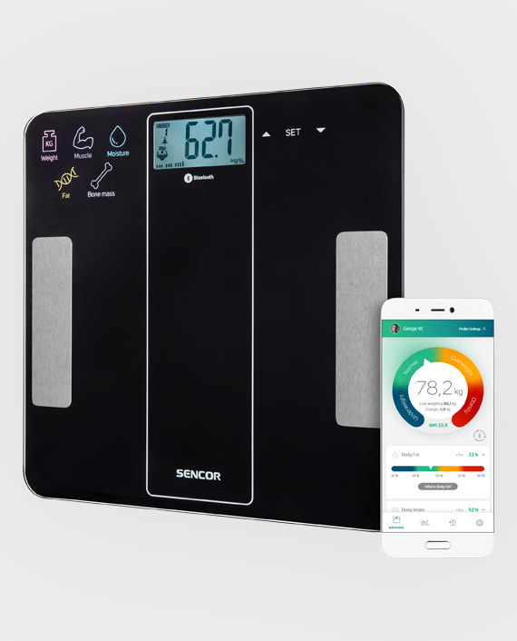 Sencor SBS 8000BK Bluetooth Fitness Scale in Qatar