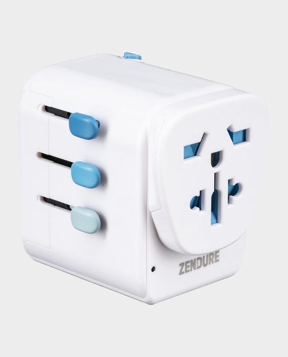 Zendure Passport Pro Travel Adapter White in Qatar
