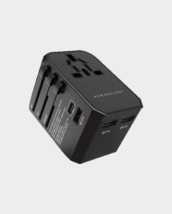 Powerology Universal Travel Charger 45W in Qatar and Doha