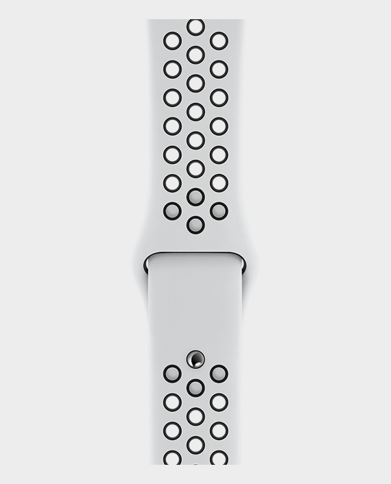 Apple Watch 44mm Pure Platinum-Black Nike Sport Band - Regular in Qatar