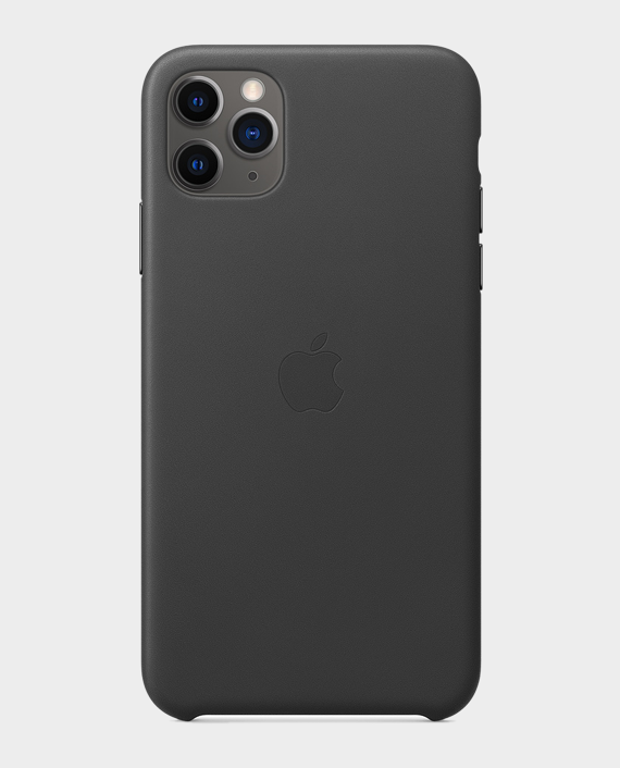 Apple iPhone 11 Pro Max Leather Case Black in Qatar
