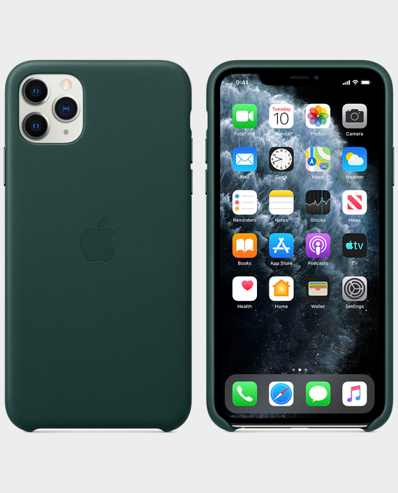 Apple iPhone 11 Pro Max Leather Case Forest Green