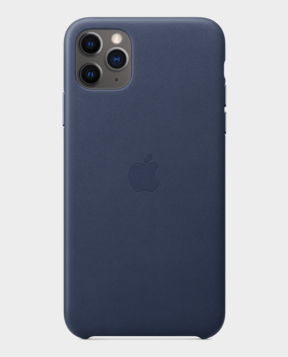 Apple iPhone 11 Pro Max Leather Case Midnight Blue in Qatar