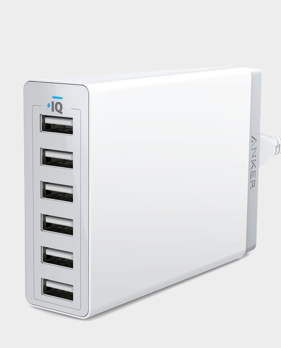 Anker 60W 6 Port Desktop Chargers UK-White