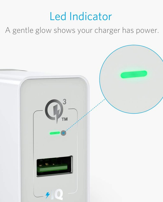 Anker PowerPort+ 1 with Quick Charge 3.0