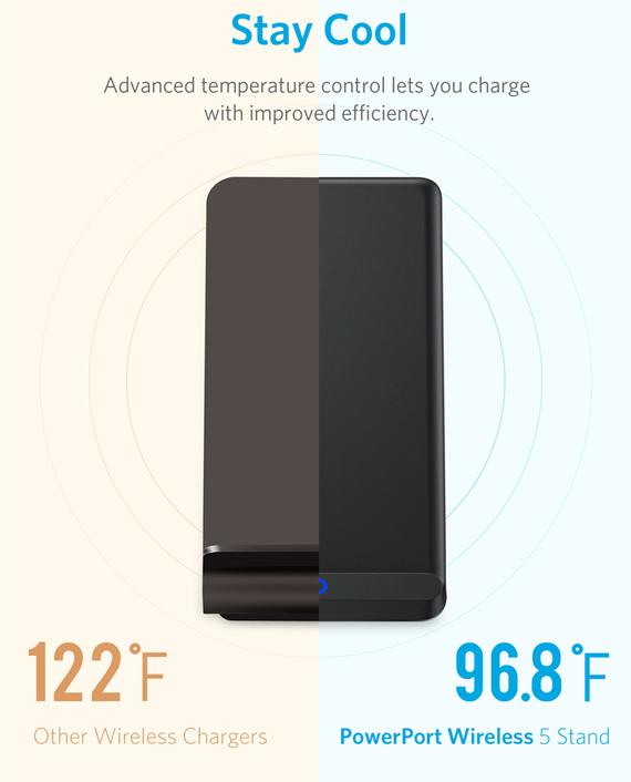 Anker Qi-Certified PowerPort Wireless 5 Stand