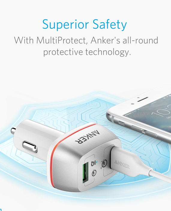 Anker PowerDrive+ 2 Ports in Qatar