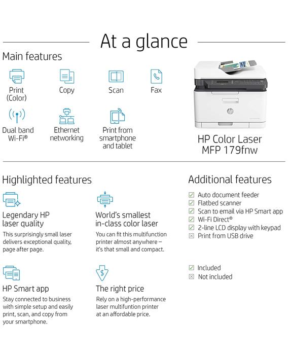 HP Color Laser MFP 179fnw
