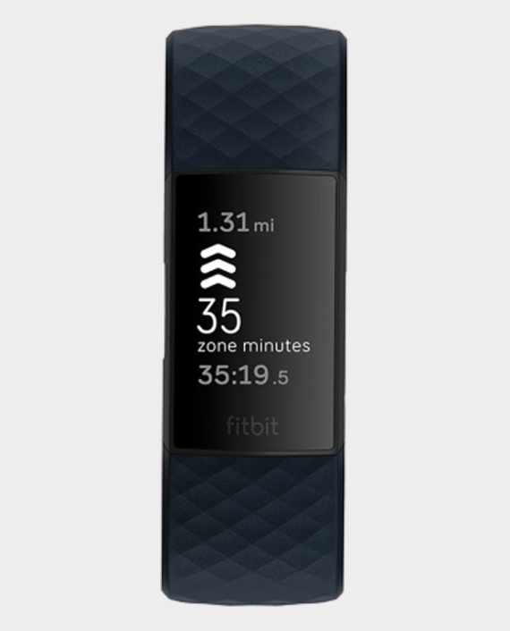 Fitbit Charge 4 Fitness and Activity Tracker with Built-in GPS - Storm Blue-Black in Qatar