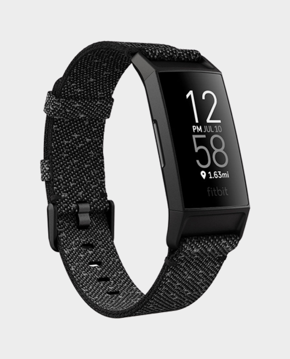 Fitbit Charge 4 Special Edition Fitness and Activity Tracker with Built-in GPS - Granite Reflective Black