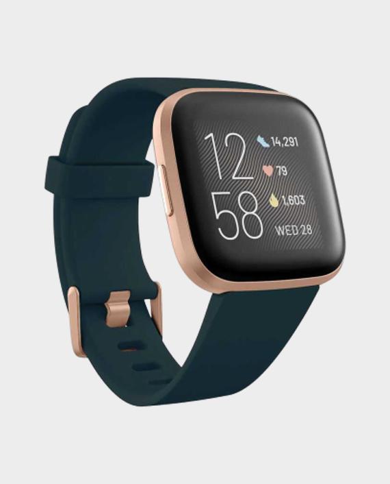 Fitbit Versa 2 Smart Watch Emerald Green & Copper Rose