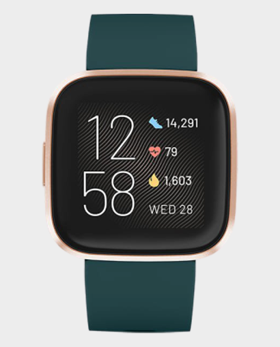 Fitbit Versa 2 Smart Watch Emerald Green & Copper Rose in Qatar
