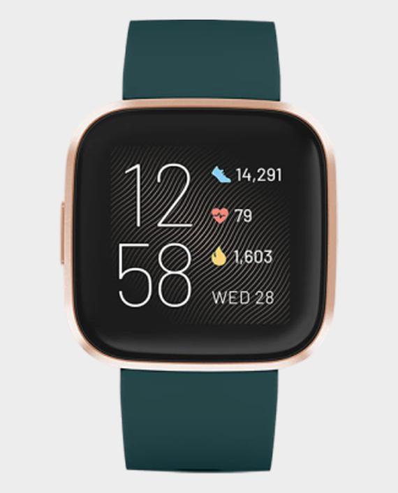 Fitbit Versa 2 Smart Watch Emerald Green & Copper Rose in Qatar