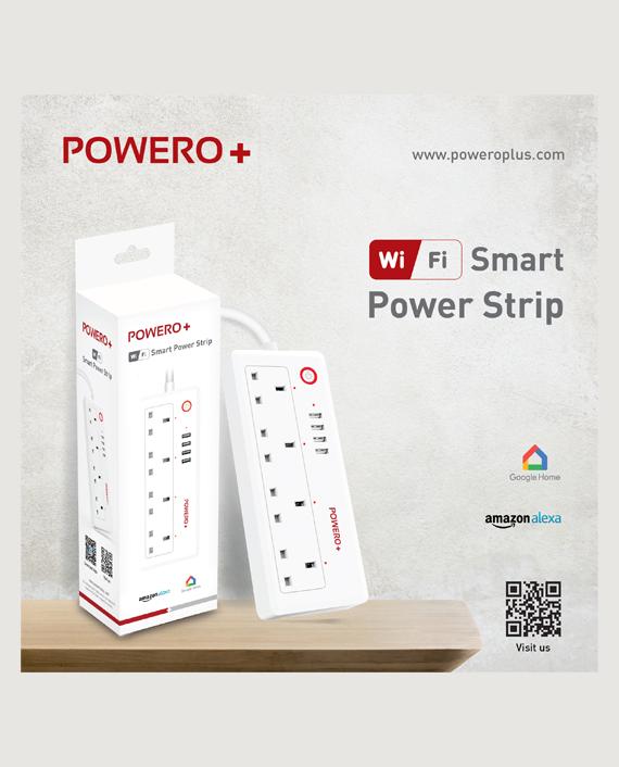 Powero+ UK Smart Wifi Smart Power Strip