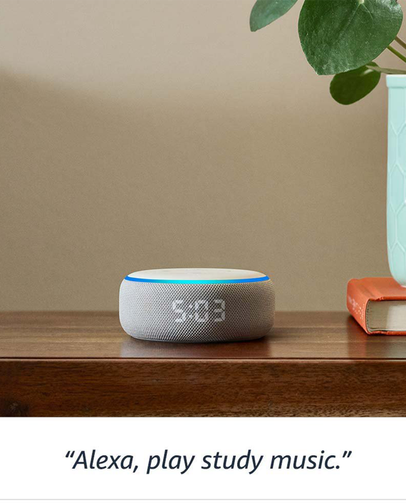 Amazon Echo Dot (3rd Gen) Smart Speaker with Clock