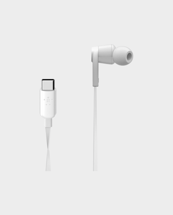 Belkin Rockstar Headphones with USB Connector White