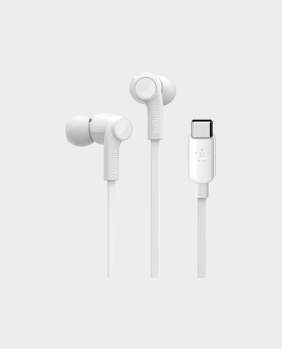 Belkin Rockstar Headphones with USB Connector White in Qatar