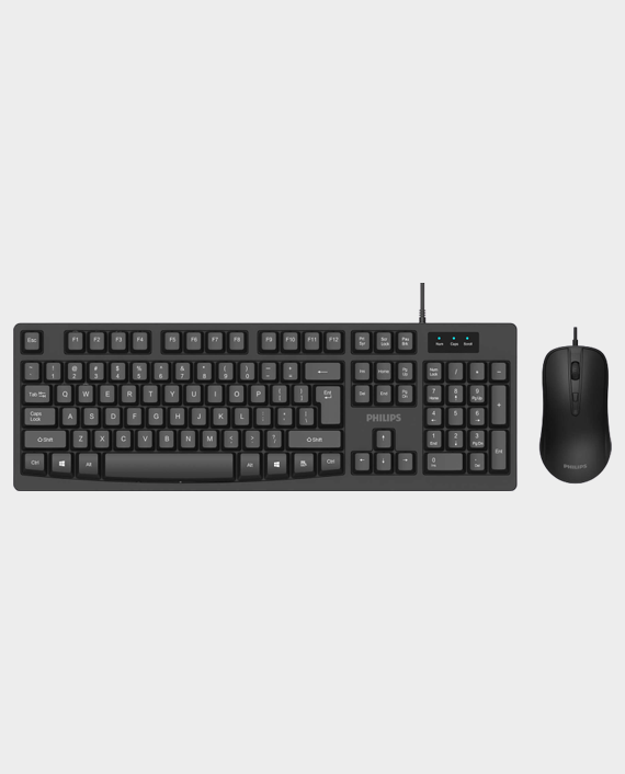 Philips SPT6214 Wired Keyboard & Mouse Combo Black in Qatar