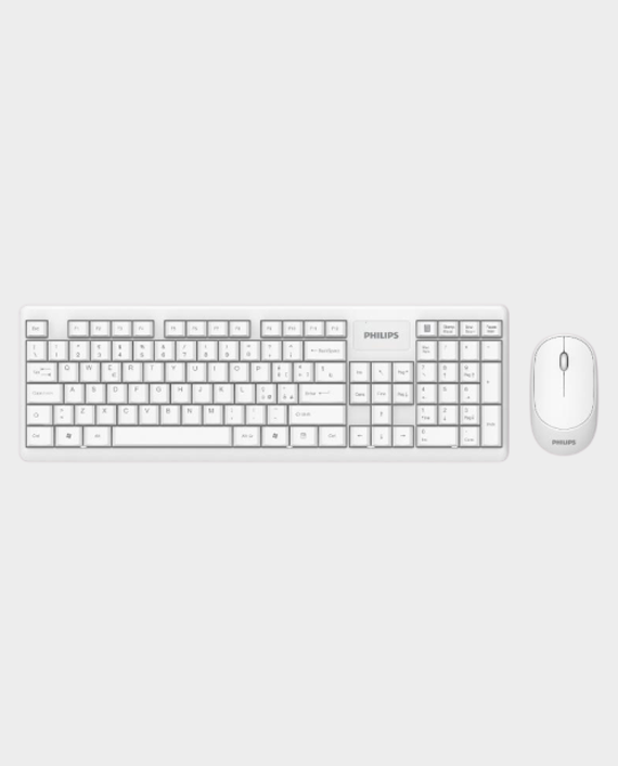 Philips SPT6314 Wired Keyboard & Mouse Combo White in Qatar