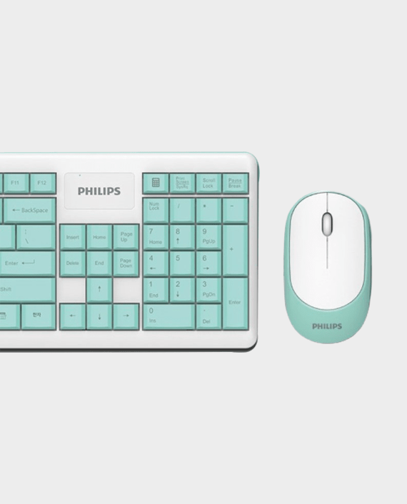 Philips SPT6314 Wired Keyboard & Mouse Combo Cyan in Qatar
