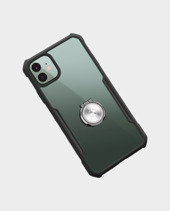 IPhone 11 Xundd Magic Beatle Series Case With Ring - Black and Transparent in Qatar