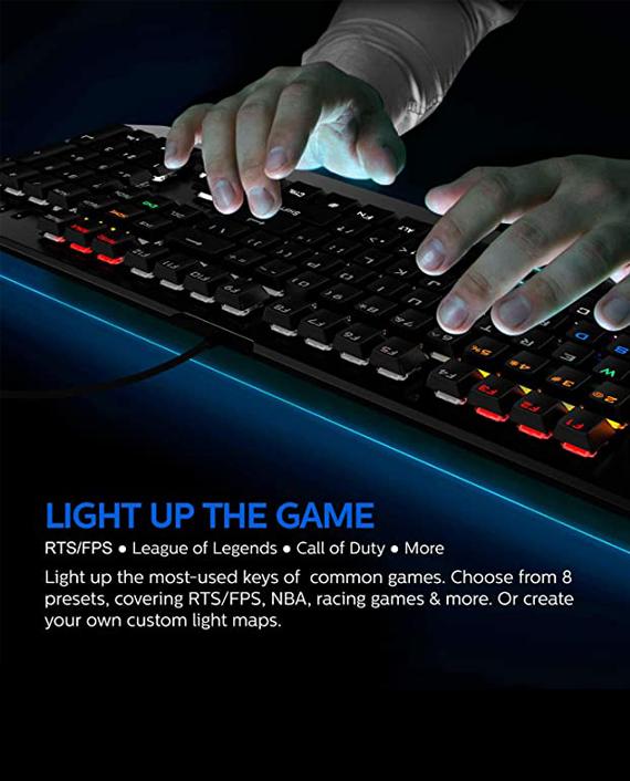 Philips SPK8413 Wired Mechanical Gaming Keyboard
