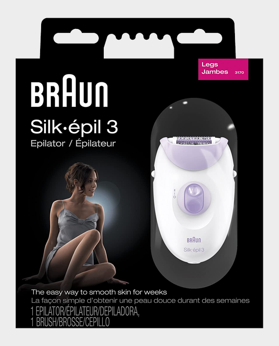 Braun Series 3-3170 Silk Epil Epilator Purple